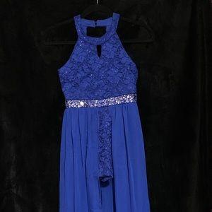 Fancy blue tween dress